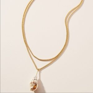 BaubleBar Layered Shell Pendant Necklace